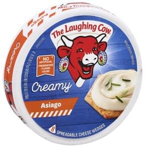 The Laughing Cow Spreadable Cheese Wedges Creamy Asiago