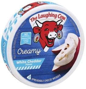 The Laughing Cow Spreadable Cheese Wedges Creamy White Cheddar Flavor
