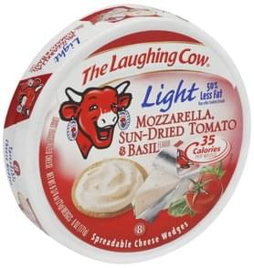 The Laughing Cow Spreadable Cheese Wedges Mozzarella Sun-Dried Tomato & Basil Flavor, Light
