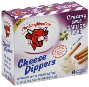 The Laughing Cow Cheese Dippers Creamy Swiss Garlic & Herb