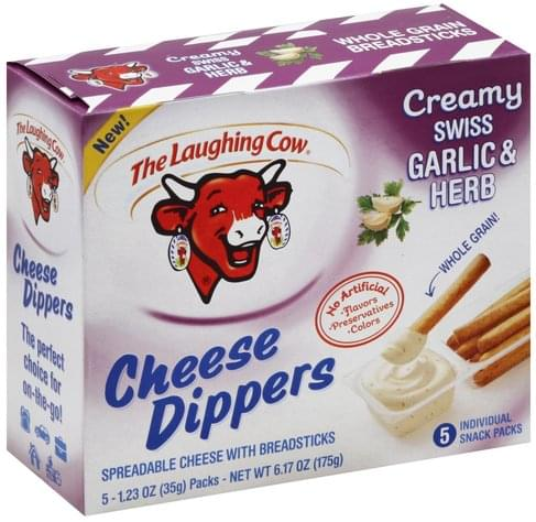 The Laughing Cow Creamy Swiss Garlic & Herb Cheese Dippers - 5 ea