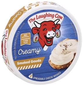 The Laughing Cow Spreadable Cheese Wedges Creamy Smoked Gouda