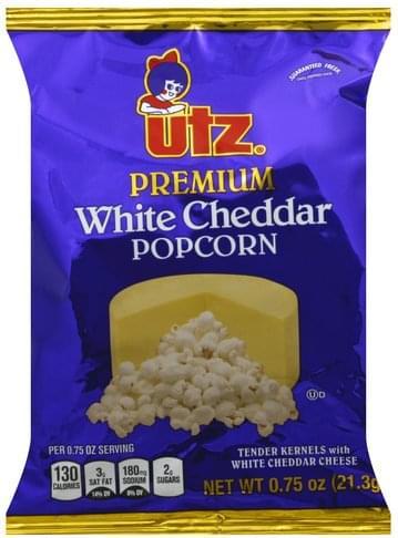 Utz Premium, White Cheddar Popcorn - 0