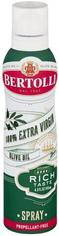 Bertolli 100% Extra Virgin, Rich Taste, Spray Olive Oil - 4.9 oz