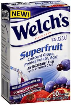 Welch's To Go! Sugar Free Powdered Drink Mix Superfruit