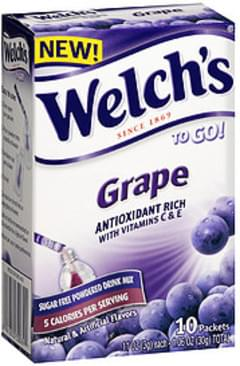 Welch's To Go! Sugar Free Powdered Drink Mix Grape