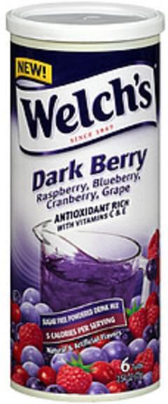 Welch's Sugar Free Powdered Drink Mix Dark Berry