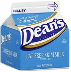 Deans Milk Fat Free Skim