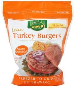 Jennie O Turkey Burgers Lean, Savory Seasoned