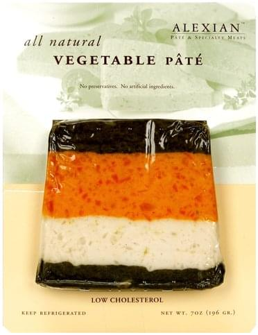 Alexian All Natural Vegetable Pate - 7 oz