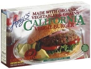 Amys Veggie Burger California, Garden Vegetables