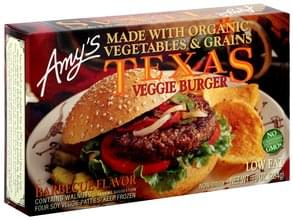 Amys Texas Veggie Burger Barbecue Flavor