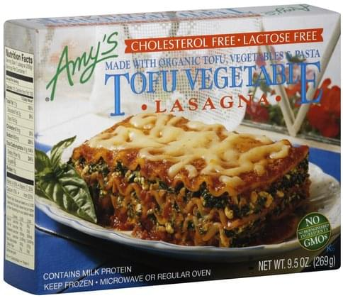 Amys Tofu Vegetable Lasagna - 9.5 oz