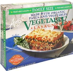 Amys Vegetable Lasagna Family Size