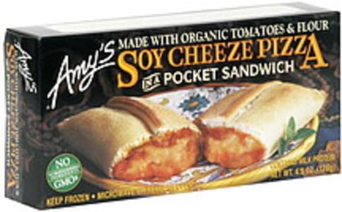 Amys In a Pocket Sandwich Soy Cheese Pizza