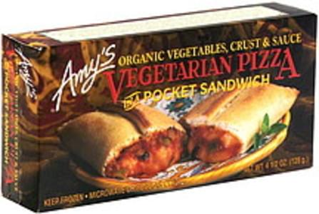 Amys Vegetarian Pizza in a Pocket Sandwich