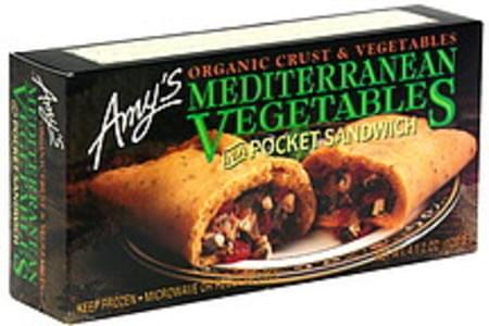 Amys Mediterranean Vegetables in a Pocket Sandwich
