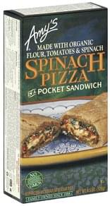 Amys Pocket Sandwich Spinach Pizza