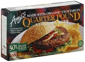 Amys Veggie Burger Quarter Pound