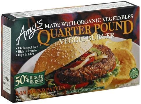 Amys Quarter Pound Veggie Burger - 4 ea
