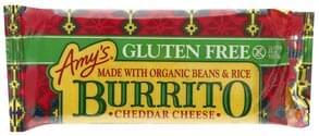 Amys Burrito Gluten Free, Cheddar Cheese