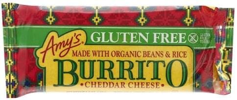 Amys Gluten Free Cheddar Cheese Burrito 5 5 Ea Nutrition Information Innit
