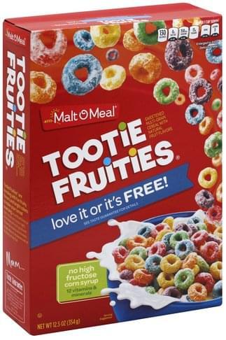 Malt O Meal Tootie Fruities Cereal - 12