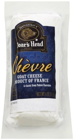 Boars Head Goat, Chevre Cheese - 4 oz, Nutrition Information