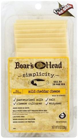 Boars Head Mild Cheddar Cheese - 8 oz