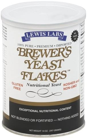 Lewis Labs Brewer's Yeast Flakes - 14 oz