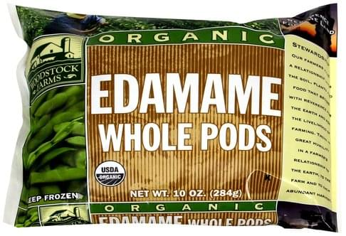 Woodstock Farms Edamame Whole Pods - 10 oz