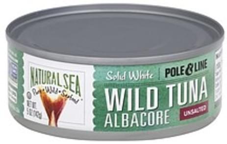 Natural Sea Wild Tuna Solid White, Unsalted, Albacore