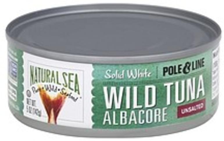 Natural Sea Solid White, Unsalted, Albacore Wild Tuna - 5 oz