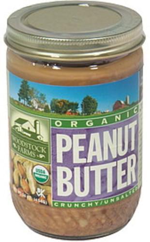 Woodstock Farms Organic, Crunchy, Unsalted Peanut Butter - 16 oz