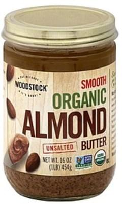 Woodstock Almond Butter Organic, Smooth, Unsalted