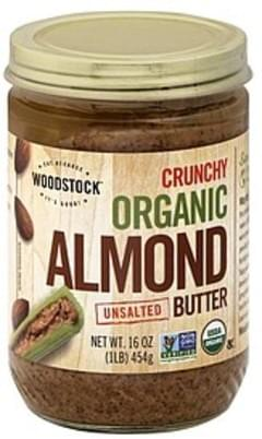 Woodstock Almond Butter Organic, Crunchy, Unsalted