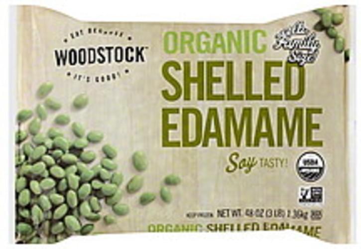 Woodstock Shelled, Family Size Edamame - 48 oz