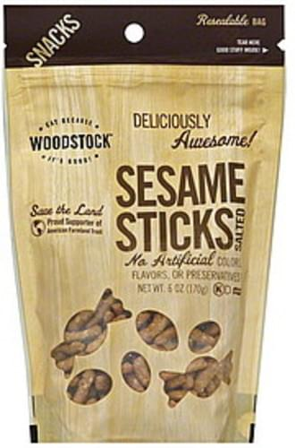Woodstock Salted Sesame Sticks - 6 oz