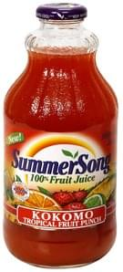 SummerSong 100% Fruit Juice Kokomo Tropical Fruit Punch