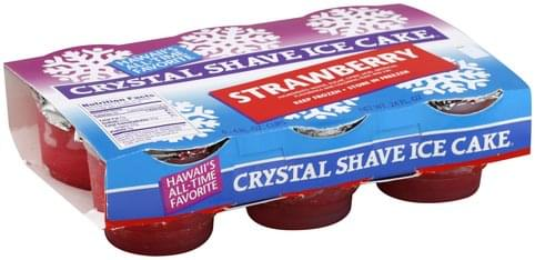 Hawaiis Favorite Strawberry Crystal Shave Ice Cake , 6 ea