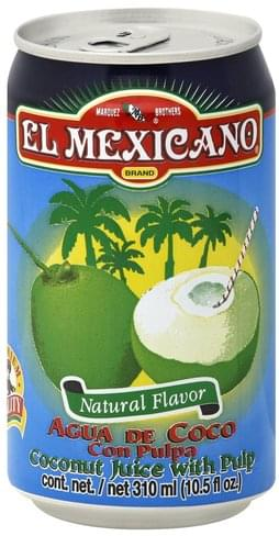 El Mexicano Coconut, With Pulp Juice - 10.5 oz