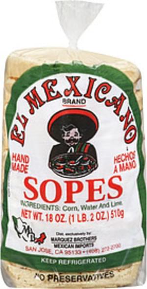 El Mexicano Sopes - 18 oz
