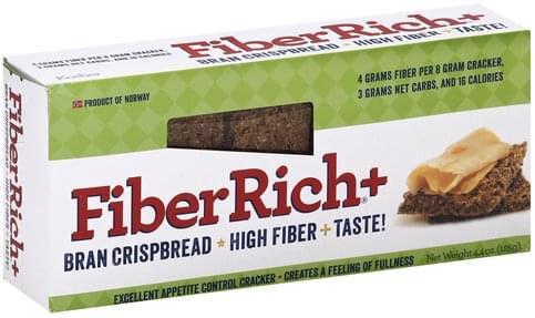 FiberRich Bran Crispbread + High Fiber Cracker - 4.4 oz