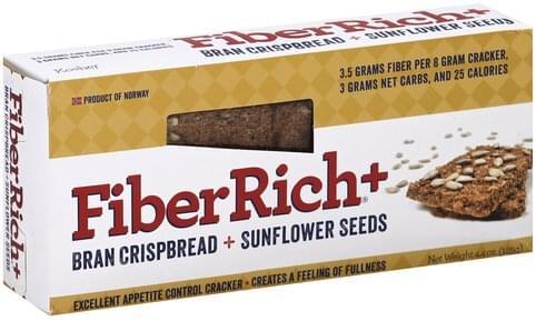 FiberRich Bran Crispbread + Sunflower Seeds Cracker - 4.4 oz