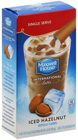 Maxwell House Cafe-Style, Iced Hazelnut