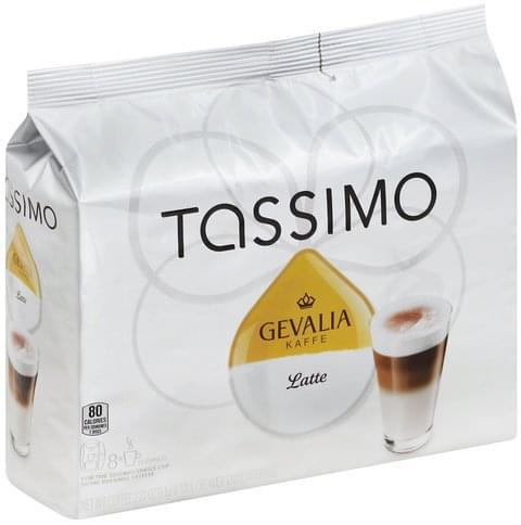 Tassimo Gevalia Kaffe, T Discs Latte - 8 ea, Nutrition