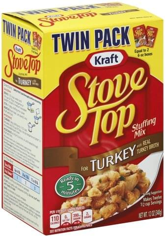 Stove Top Turkey, Twin Pack Stuffing