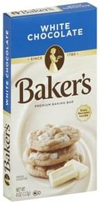 Bakers Baking Bar Premium, White Chocolate