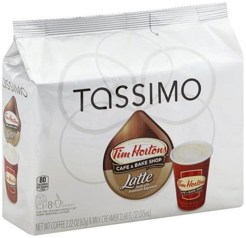 Tassimo Tim Hortons Coffee & Bake Shop, T Discs Latte - 8 ea