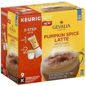 Gevalia 2-Step, K-Cup Packs & Froth Packets Pumpkin Spice